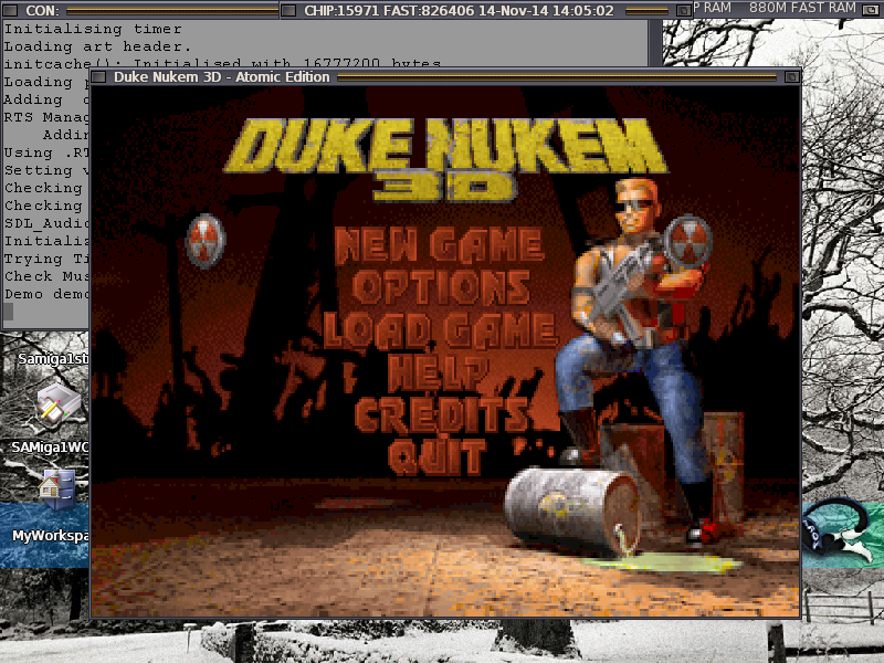 Duke Nukem 3D on AROS
