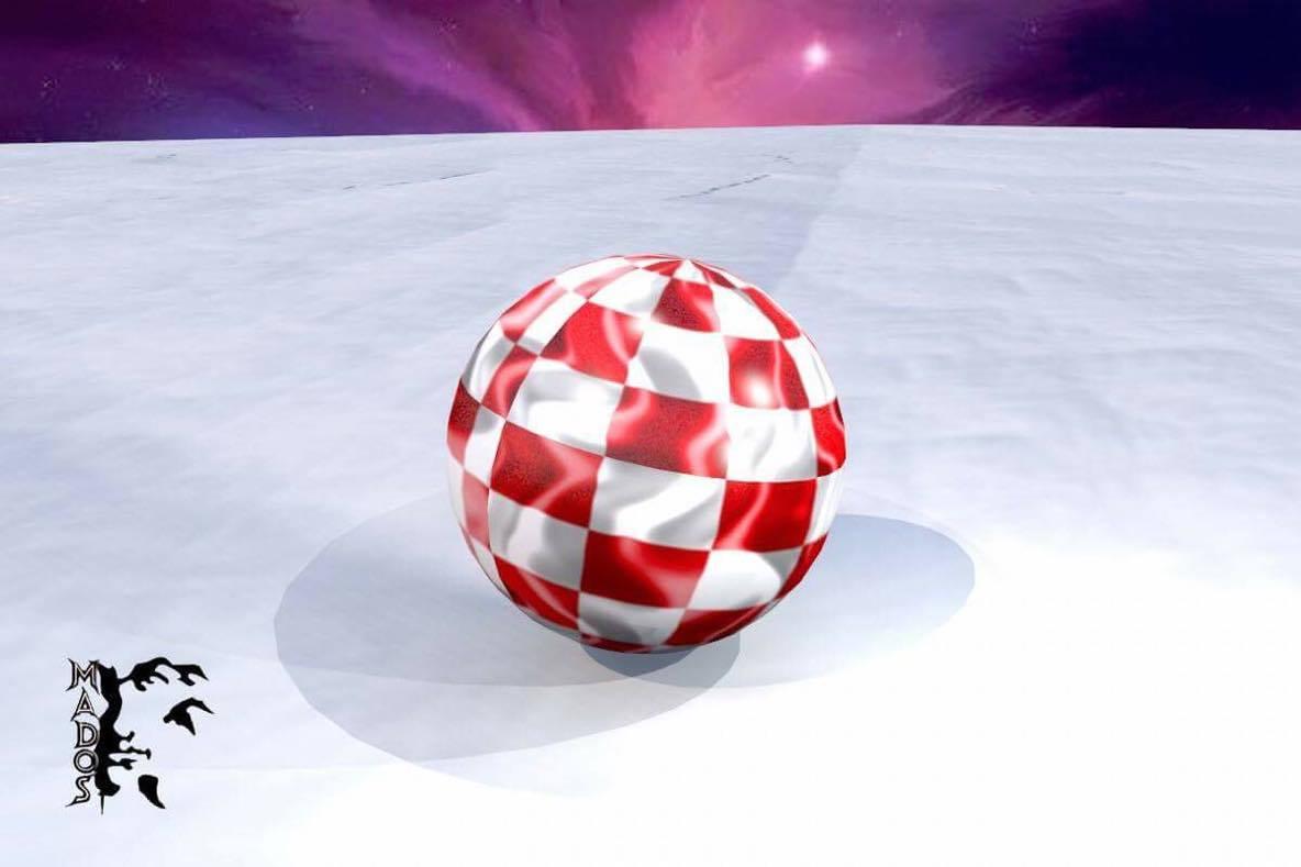 Amiga 3D boingball image creation by Mados