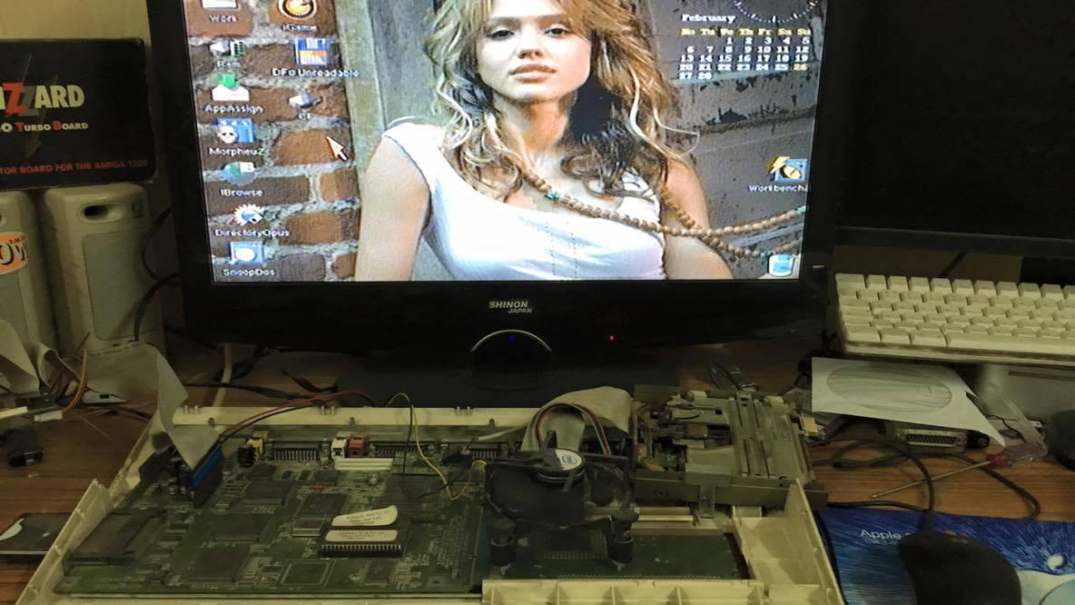 Amiga 1200 on a Flatscreen
