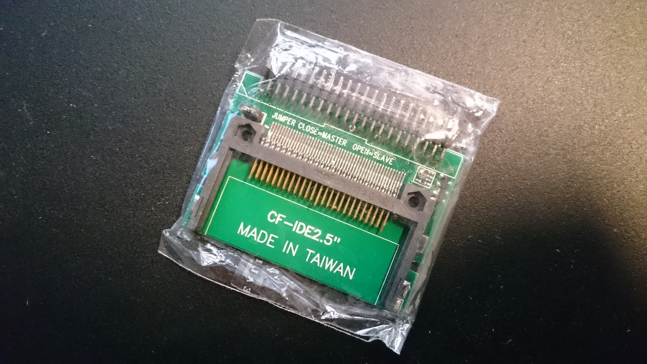 Get an IDE 2 5″ to CompactFlash adapter for your Amiga 600 or Amiga 1200