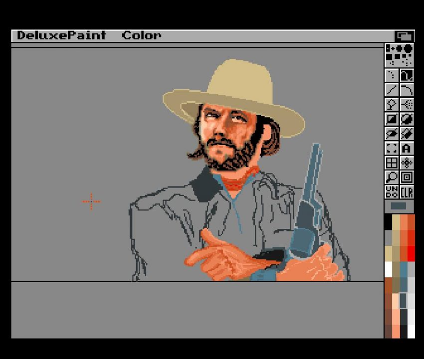 Roar Tjørhom? with fantastic Deluxe Paint art of Clint Eastwood