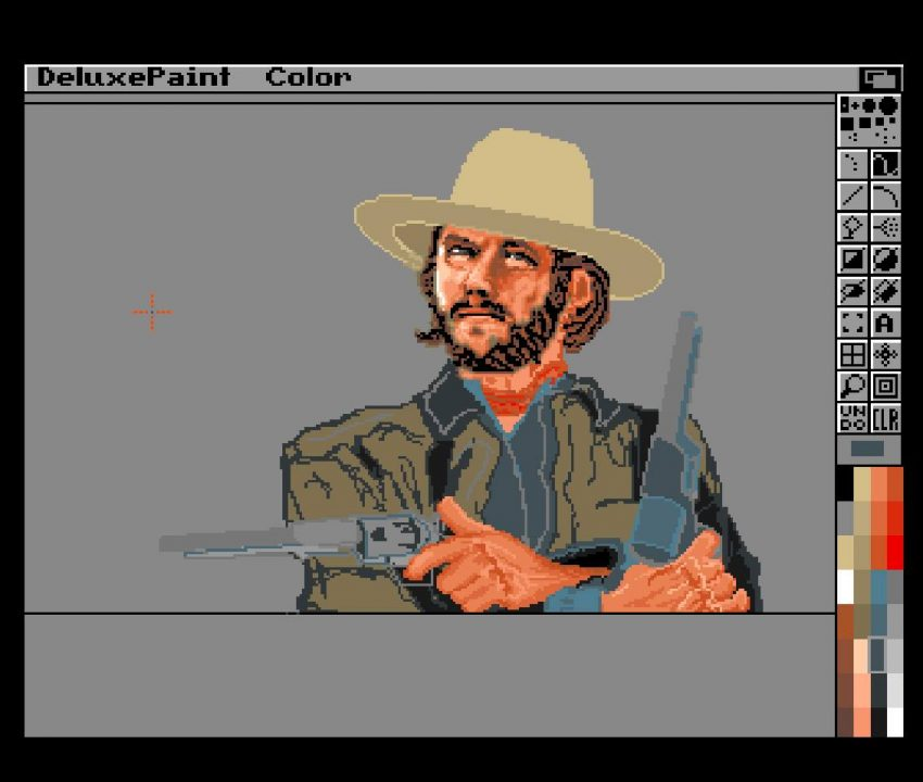 Roar Tjørhom‎ fantastic Clint Eastwood art in Deluxe Paint