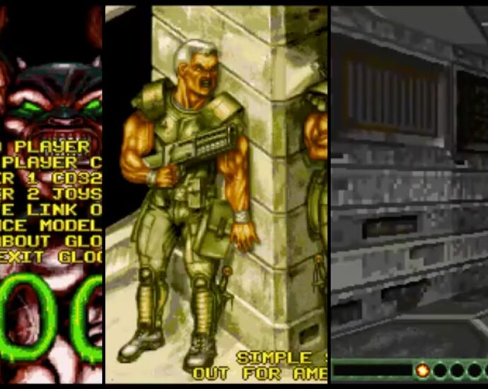 Gloom Deluxe 3D Review Revealing Unlimited Fire 3D FPS game for Amiga