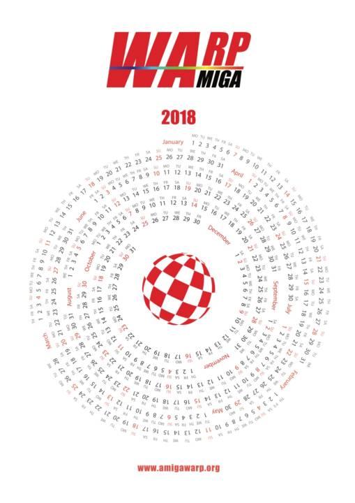 Amiga Calendar for 2018