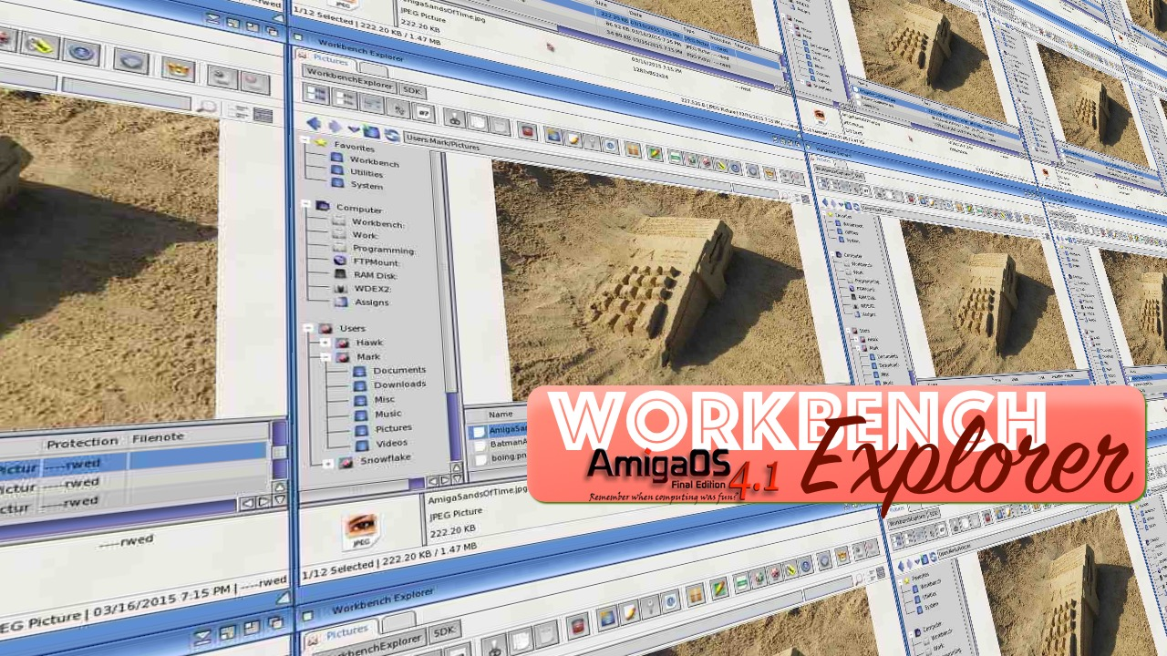 workbench explorer shot AmigaOS 4