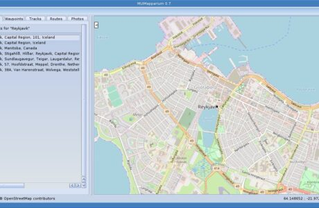 OpenStreetMap viewer app MUIMapparium 0.7 for AmigaOS