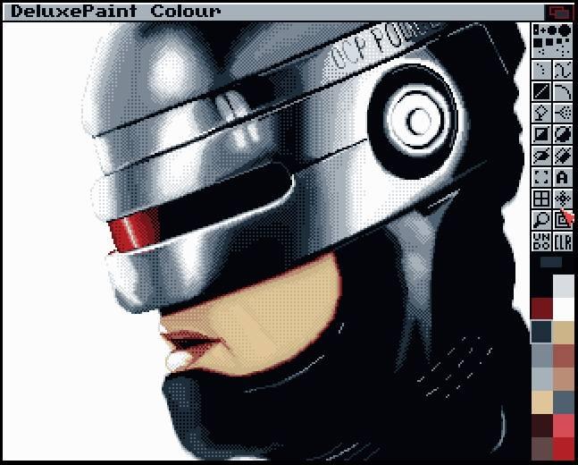 Robocop DPaint Amiga