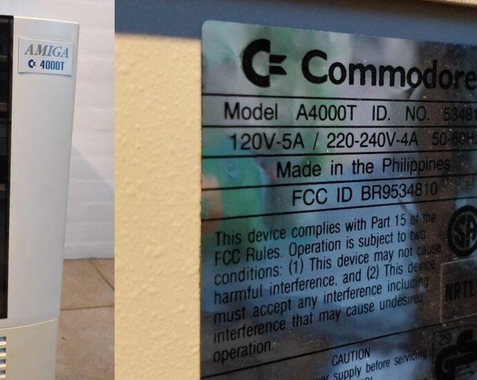 Commodore Amiga 4000T Ebay