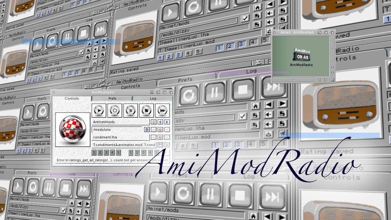 Let's introduce you to AmiModRadio, Amiga website by Tygre