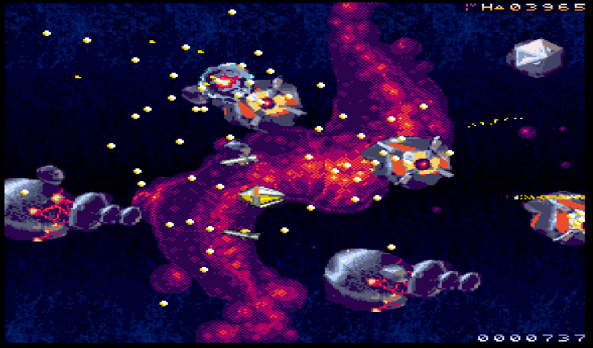 RESHOOT R brings Action to the Amiga, Amiga AGA game with Japanese shooter touch