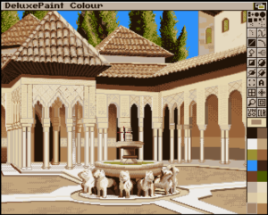 Commodore Amiga user José loves to make art in Deluxe Paint