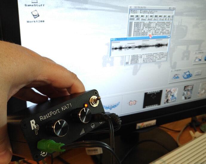 Amiga Paula Channel Mixed Sound with KA72 Amplifier