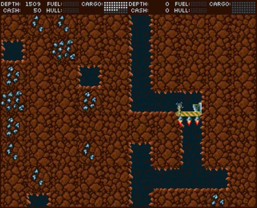 AMIner is a Sci-Fi mining game with Party elements for Amiga