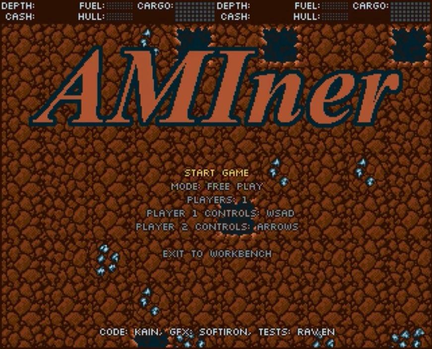 AMIner Title screen Amiga Gaming