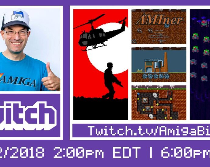 Lot's of Indie Gaming on Amiga Bill's stream on Twitch Tonight