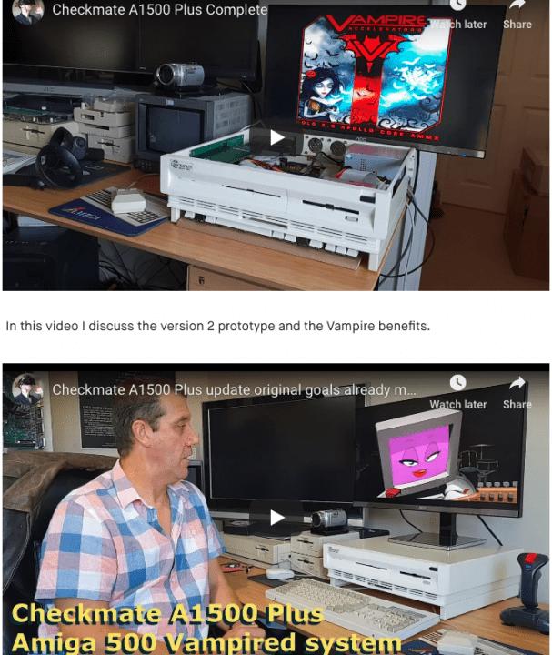 Checkmate A1500 Plus Amiga Kickstarter Money finally Arrived