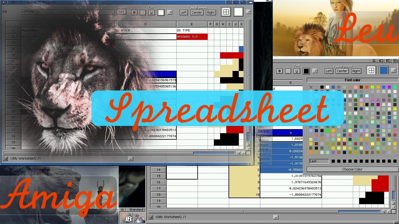 Leu is the New Spreadsheet app for Amiga